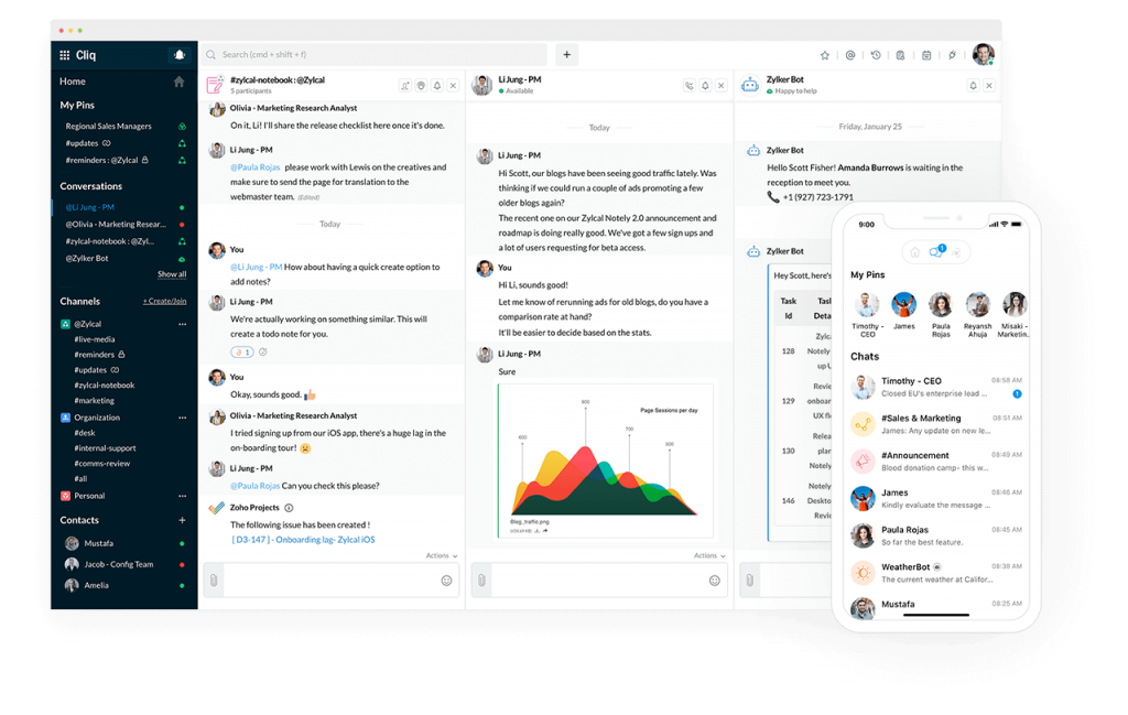 Chat with Zoho Cliq