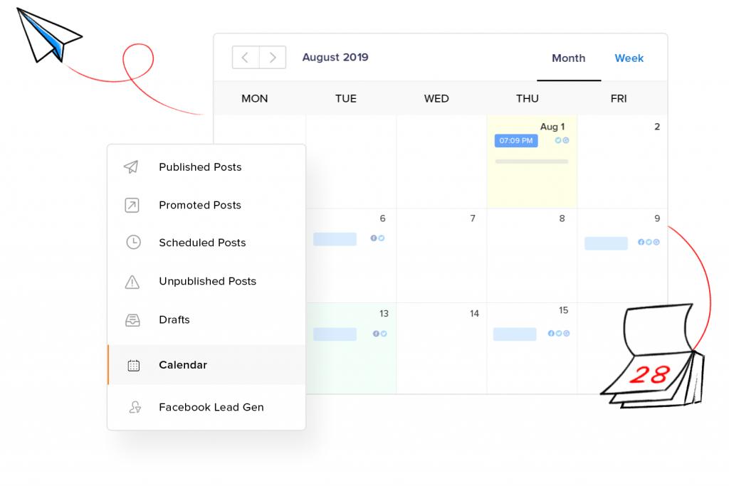 Social Media Management Calendar