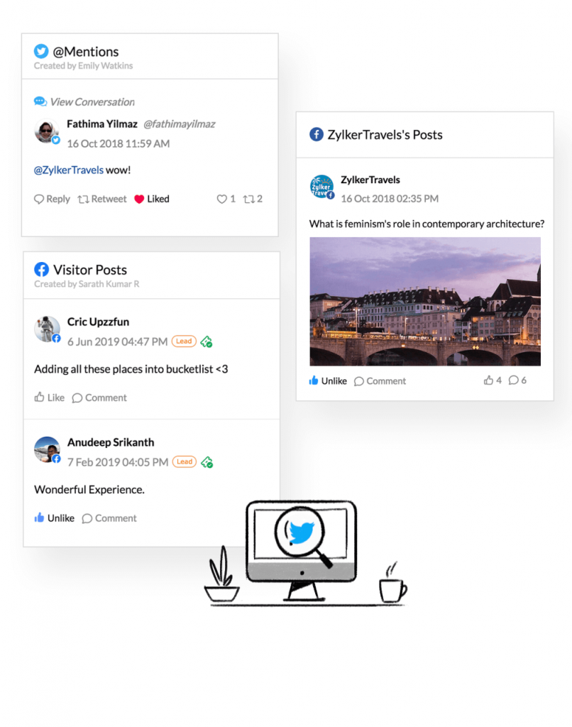 Social Media Management Tool Dashboard