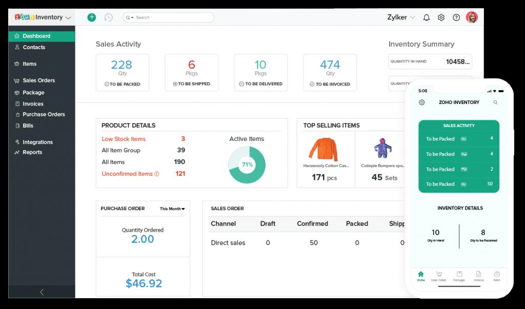 Zoho Inventory - Inventory Management Software