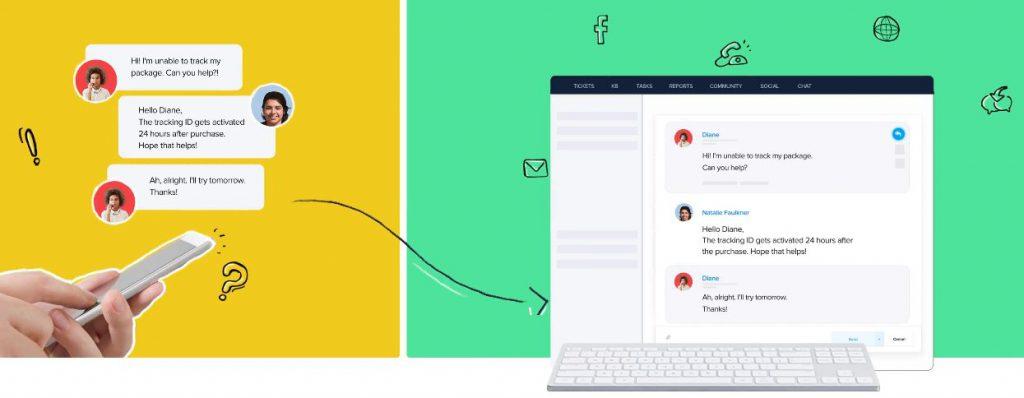 customer support software - zoho desk